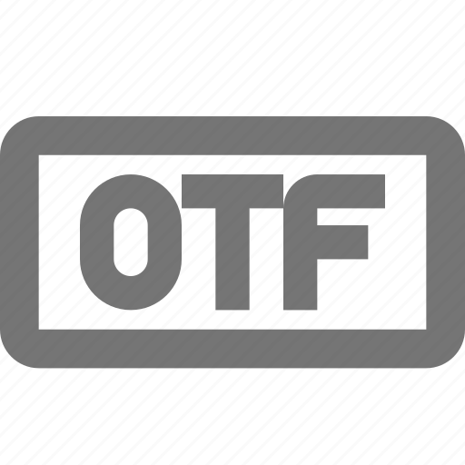 document, extension, format, media, otf, paper, sheet icon