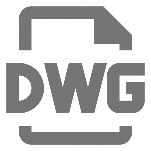 dwg, extension, file, format icon