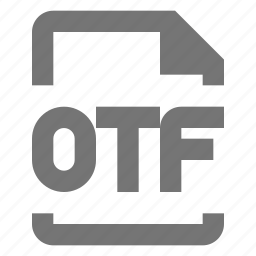 extension, file, format, otf icon