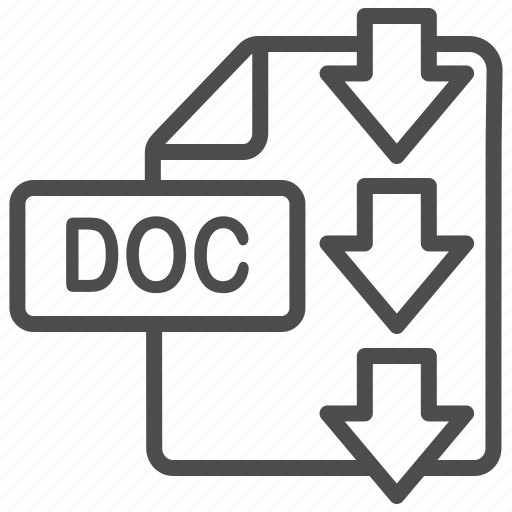 doc, document, download, file, word icon