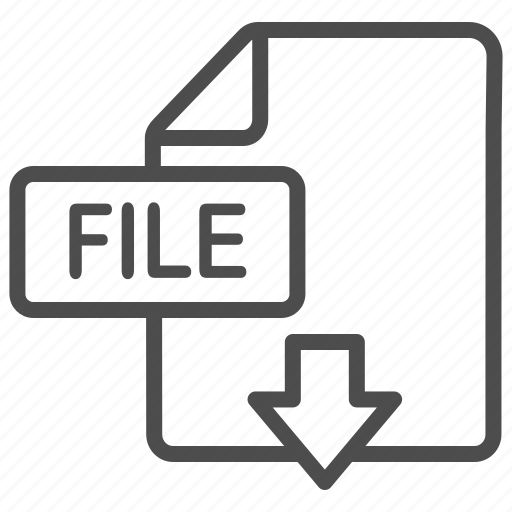 document, download, extension, file icon