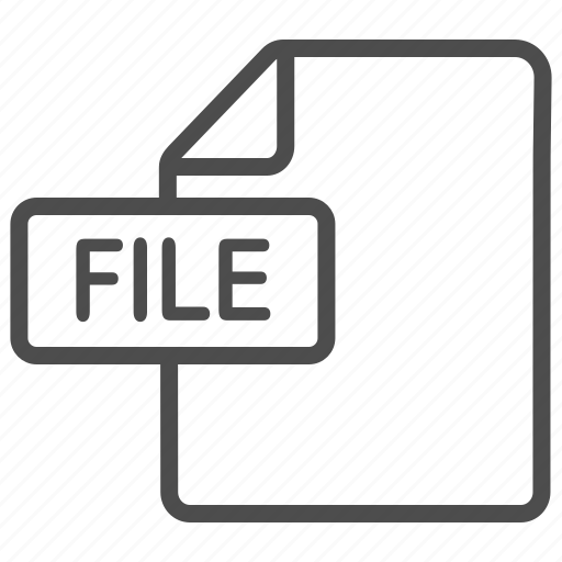 document, extension, file, files icon
