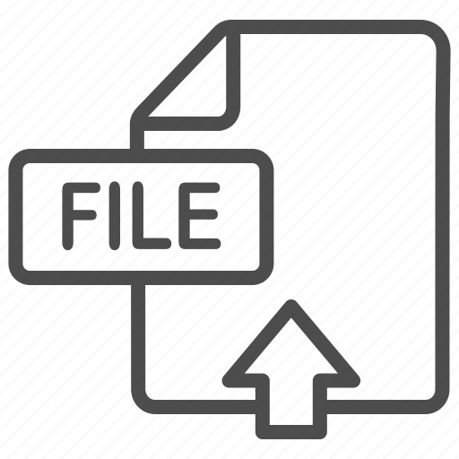document, extension, file, upload icon