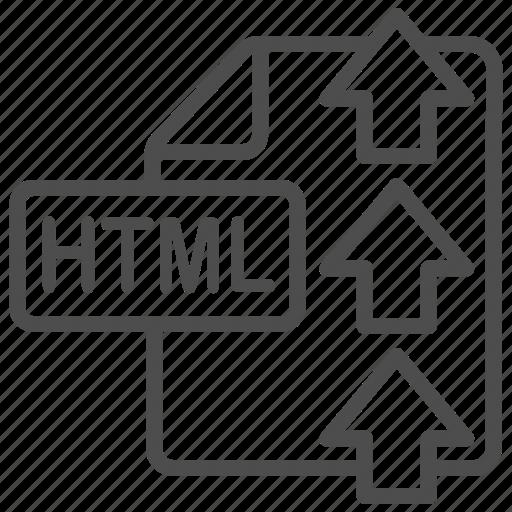 document, file, html, upload icon