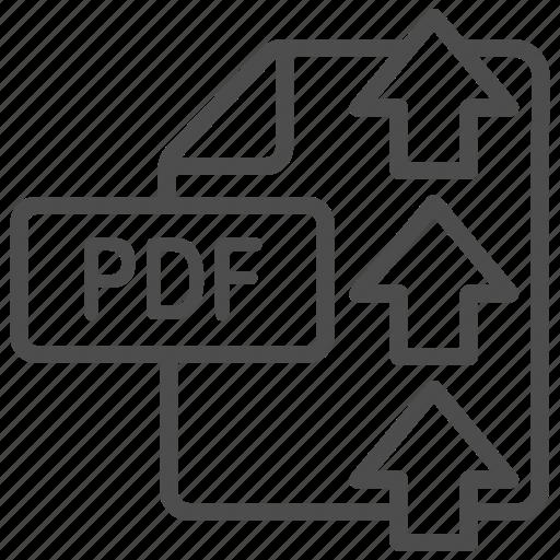 document, file, pdf, upload icon