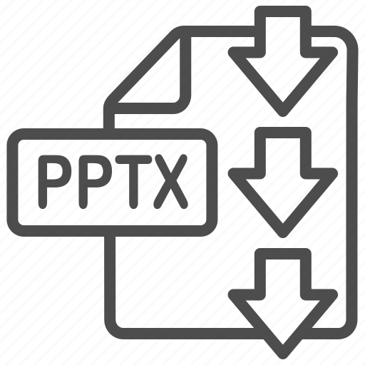 document, download, file, point, power, powerpoint, pptx icon