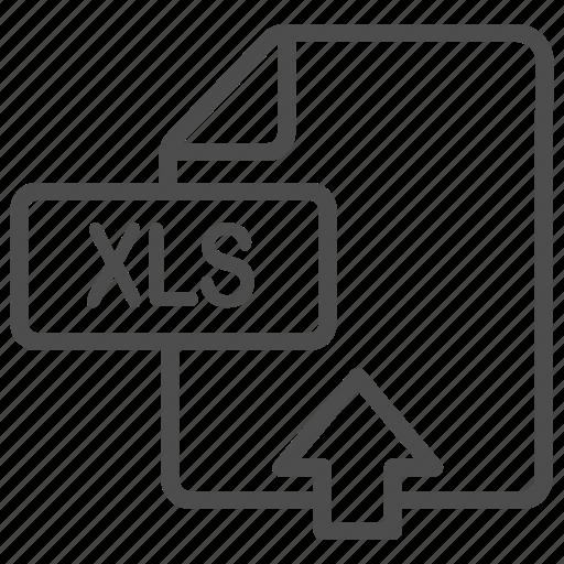 Document, excel, file, upload, xls icon - Download on Iconfinder