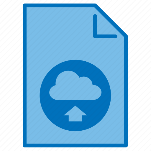 cloud, document, extension, file, filetype, type, upload icon