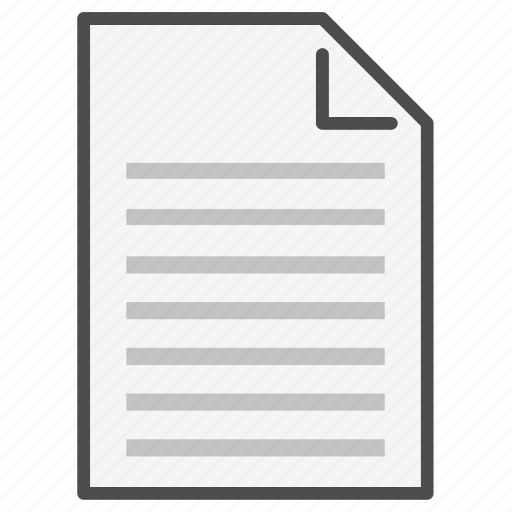 Document, extension, file, format, lines, page, text icon - Download on Iconfinder