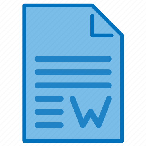 Doc, document, extension, file, format, text, word icon - Download on Iconfinder