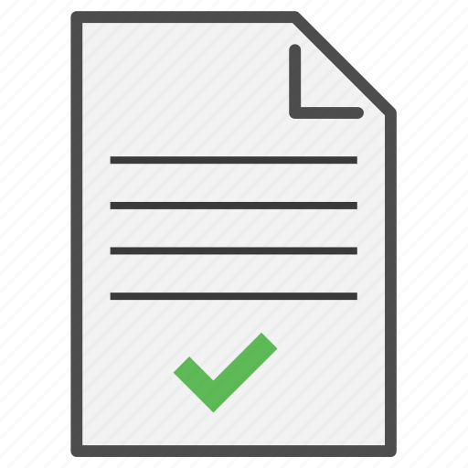 Check, checklist, document, file, format, text, type icon - Download on Iconfinder