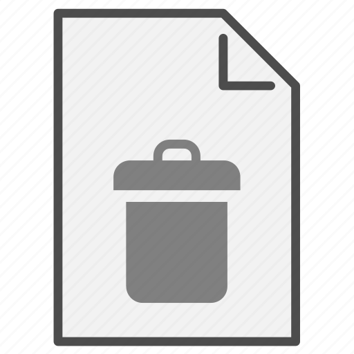 bin, document, file, format, paper, recycling, type icon