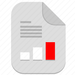 article, bar, chart, document, file, report, text icon
