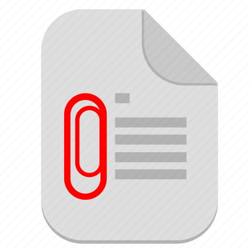 attach, attachment, document, file, operation, text icon
