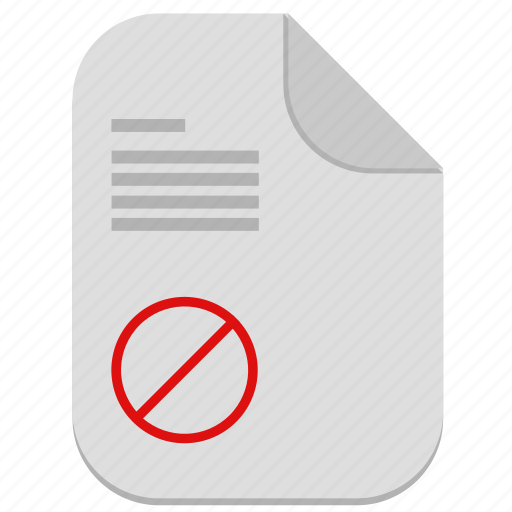 cancel, document, file, operation icon