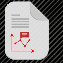chart, description, document, economic, file, report icon
