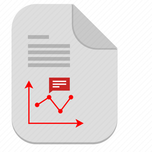 chart, description, document, economic, file, report icon