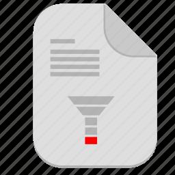 chart, description, document, file, funnel, sales icon