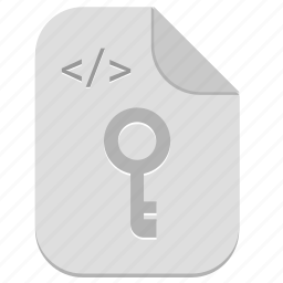 code, document, file, key, programming icon
