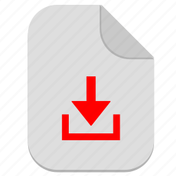 document, download, file, operation icon