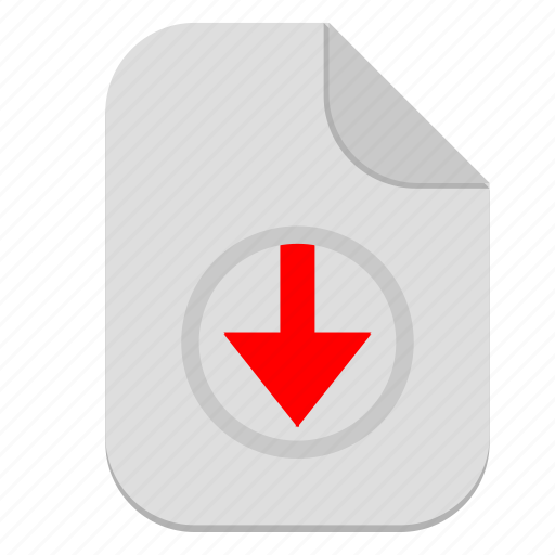 arrow, bottom, document, down, download, file icon