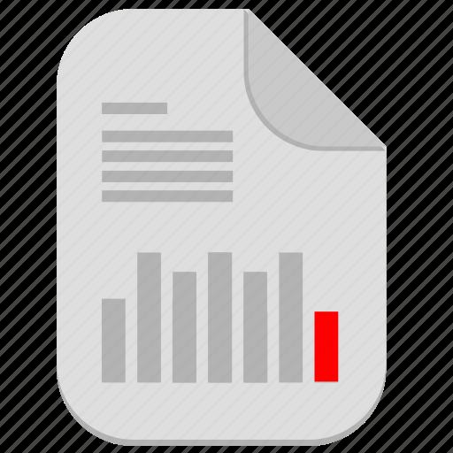 bar, chart, document, economic, file icon