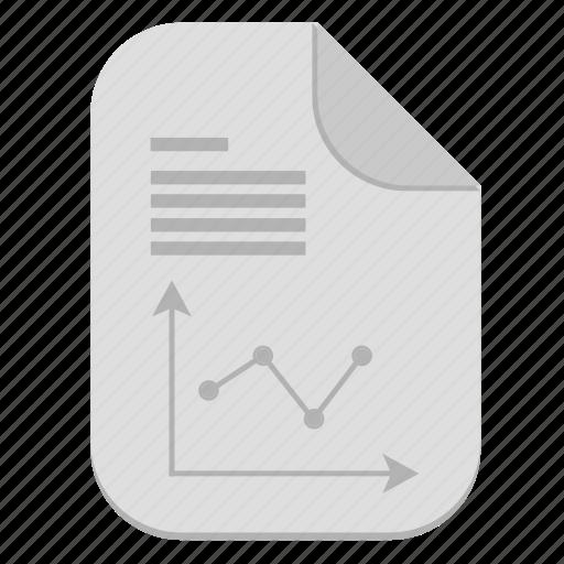 chart, document, economic, file, graph icon