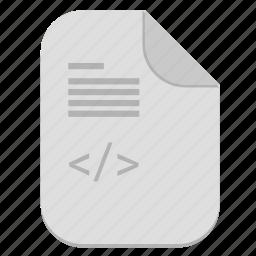 code, description, document, file, program icon