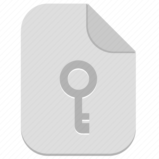 document, electronic, file, key, password icon
