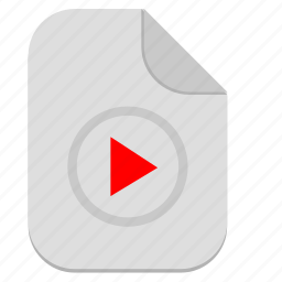 document, file, film, music, operation, play, video icon