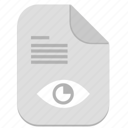 document, eye, file, operation, preview, text icon