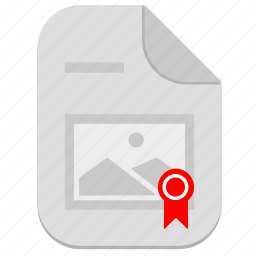 author, copyright, image, license, photo, picture, sertificate icon