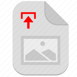 document, file, image, operation, picture, upload icon