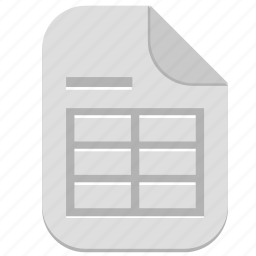 document, file, table, type icon