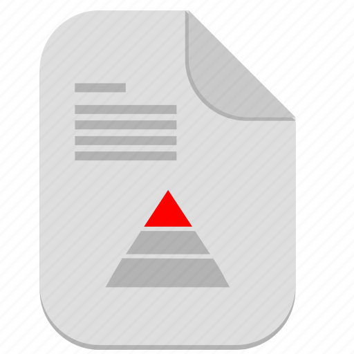 chart, document, economic, file, text, triangle icon