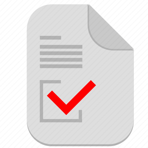 accept, choice, complete, document, file, ok, text icon