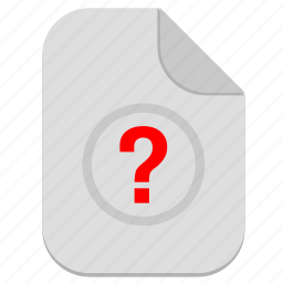 document, file, operation, question, unknown icon