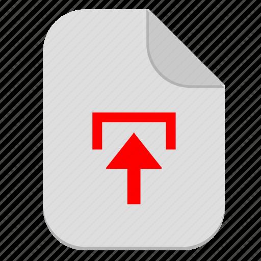 document, file, operation, upload icon
