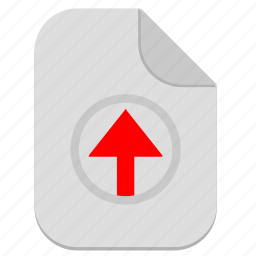 document, file, operation, top, up, upload icon