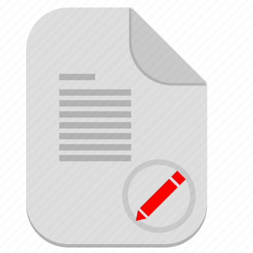 document, edit, file, operation, text, write icon