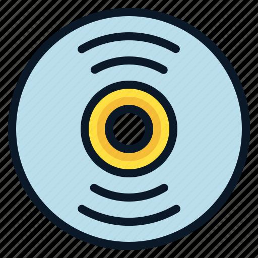 disc, drive, file, room icon