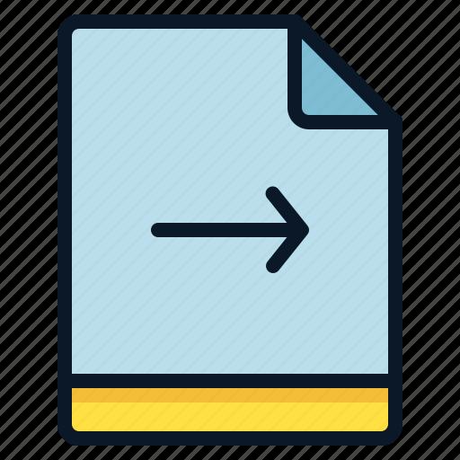 arrow, file, move, right icon