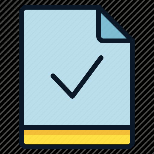 check, file, valid, verify icon