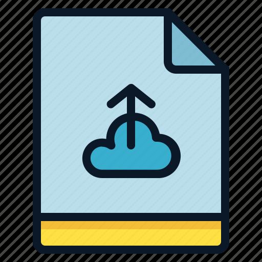 backup, cloud, file, upload icon