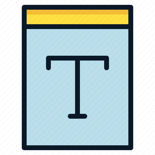 file, font, text, type icon