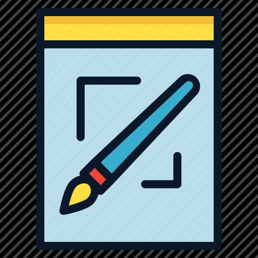brush, file, graphic, image, raster icon