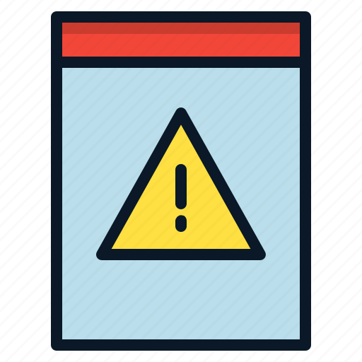 danger, file, important, threat icon