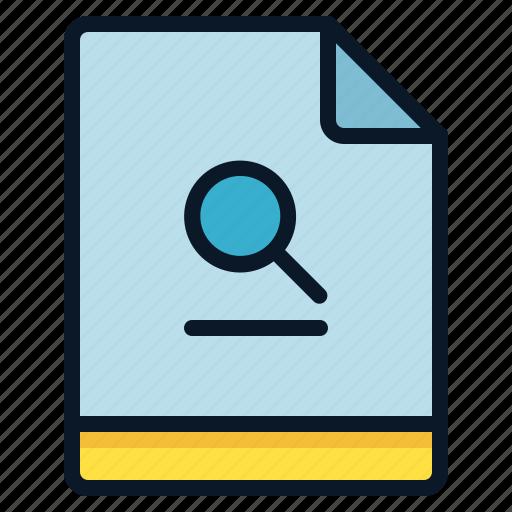 Search, explore, file, find icon