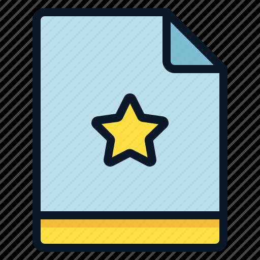 favorite, file, important, star icon