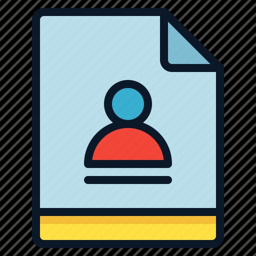 Admin, profile, user, file icon